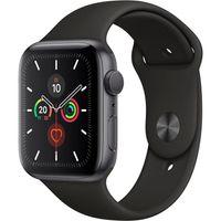 Apple Watch Series 5, 44mm, Alu Case, Sportband, Farbe: Schwarz