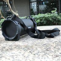 Bluetooth High Power Lautsprecher Outdoor Sport Kreative USB Audio Beweglicher Drahtloser Bluetooth Lautsprecher Boombox Bass Stereo Zylinder SD FM Radio PC (Schwarz)