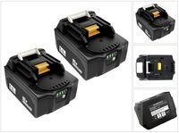 2-Pack 18V 6,0Ah Lithium-Ionen Akku Batterie Ersatzakkus Werkzeugakkus Akku-Werkzeugbatterie Für Makita BL1850 BL1815 BL1815N BL1820 BL1820B BL1830 BL1830B BL1835 BL1840 BL1840B BL1845 BL1850B BL1860 BL1860B LXT400