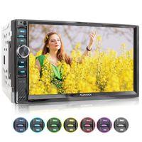 XOMAX XM-2V719 2DIN Autoradio mit Mirrorlink, 7'' Zoll Touchscreen Monitor, AUX-IN, SD, USB und BLUETOOTH
