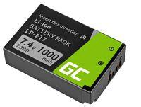 Green Cell® LP-E17 LP-I7 LP-l7 Kamera-Akku für Canon EOS 750D 760D 77D 8000D Rebel SL2 T6i T6s T7i Kiss X8i, Half Decoded (Li-Ion Zellen 1000mAh 7.4V Schwarz)