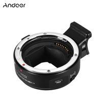 Andoer EF-NEX IV-Adapterring für Objektivmontage Hochgeschwindigkeits-Digital-Autofokus Kompatibel mit Canon EF / EF-S-Objektiv für Sony A7 / A7R / A7S / A5000 / A6000 NEX E-Spiegel-Vollbildkameras