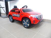 Kinder Elektroauto Mercedes EQC Polizei 2x Motoren MP3 USB Fernsteuerung Rot