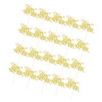 20 Stück Happy New Year Cake Toppers Gold Kuchendeckel wie beschrieben