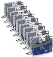 Xemax 9x Kompatible Schriftband als Ersatz für Brother TZe-231 TZe 231 TZ-231 12mm 0.47 TZe Tape Schwarz auf Weiß für Brother P-Touch 1010 H105 H100LB H100R 1000 D200 D400 E100 H105WB D400VP P750W