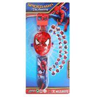 3D Cartoon Projektion Armbanduhren Spielzeug Uhr Stil Muster Zeit Uhr Kinder Spielzeug Watch Spiderman
