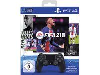 Sony Playstation Dual Shock schwarz + FIFA 21