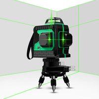 Grün Baulaser 360° Rotation 3D Kreuzlinienlaser  Selbstnivellierender  Vertikale und Horizontale Linie 3D-Laserlinie mit 12 Linien