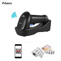 Aibecy WM3L 433MHz Wireless 1D 2D Auto Bild Barcode Scanner Hand QR Code PDF417 Barcode Leser 200m / 656ft Reichweite 1300t / s Schnelle Geschwindigkeit mit Cradle fuer Mobile Payment Supermarkt Store Warehouse