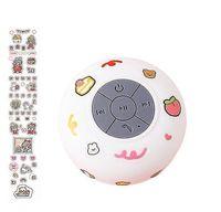 Wasserdichte drahtlose Bluetooth Kleine Audio Saugnapf Badezimmer Mini Universal Lautsprecher Wei?