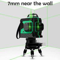 12Linie Kreuzlinienlaser Rotationslaser Selbstnivellierung 3D Grün Laser Level 360° Selbst Nivellierung