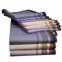 Stoff Taschentücher Herrentaschentücher in Verschiedenen Farben 12 Stk Retro