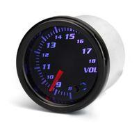 52mm Auto Voltmeter Spannungsanzeige Anzeige Zusatz Instrument 7 Farben LED 12V