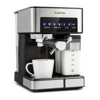 Klarstein Arabica Comfort Espressomaschine 1350W 20 Bar 1,8l Touch-Bedienfeld Edelstahl