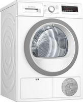 Bosch Serie 4 WTH85VWIN, Freistehend, Frontlader, Wärmepumpe, Weiß, Drehregler, Berührung, Rechts