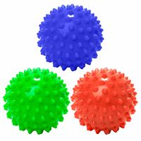 3er-Set Igelball / Massageball  8cm - rot-navy-grün