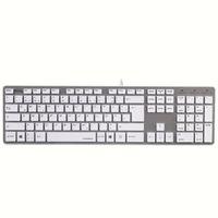 Hama - 50453 Tastatur Rossano, Weiß/Silber