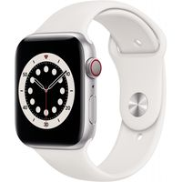 Apple Watch Series 6 GPS + Cell 44mm Silver Alu White Sport Band