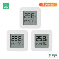 3 stuecke xiaomi mijia bt thermometer 2 drahtlose smart electric digital hygrometer luftfeuchtigkeit sensor arbeit mit mijia app