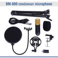 BM-800 Mikrofonständer Set Tischstativ Mit Klammer Microfon Halterung Stativ Ständer Podcast Set