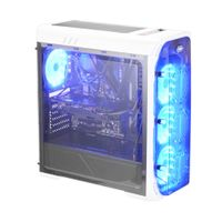 LC Power Gaming 988W - Blue Typhoon - Midi-Tower - PC - Metall - Weiß - ATX,Micro ATX,Mini-ITX - Gaming