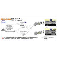 ARROW Zwischenrohr Edelstahl KTM 690 SMC R 2019- 690 SMC R KTM 690 LC4