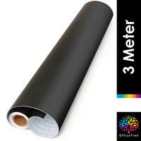 OfficeTree Tafelfolie Selbstklebend Schwarz 43 x 300cm - Kreidefolie Kreidetafel Chalkboard