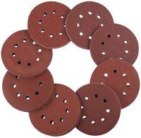 Schleifscheiben 125mm Klett -  100 Stück Exzenterschleifer Schleifpapier Set 8 Loch je 20 x 60/80/100/120/240 Körnung Exzenter Rund Papier 125 mm