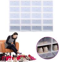 20-teilige Schuhkasten Schuhablage Stapelbox Aufbewahrungsbox Schuhbox Kunststoffbox Schuhaufbewahrung Set