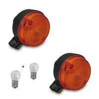 4-teiliges Set: 2x 12V Blinker Hinten mit E-Zeichen + 2x 21W Lampen  für Simson S50 S51