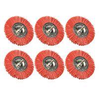 6 Stück Nylon Scheibenbürste grob ø 75mm Durchmesser Bürste für Bohrmaschine und Akkuschrauber