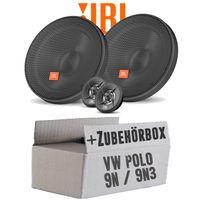Lautsprecher Boxen JBL 16,5cm System Auto Einbausatz - Einbauset für VW Polo 9N 9N3 Front - justSOUND