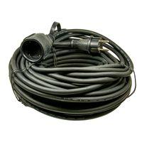 Gummi-Verlängerung IP 44, 230 V, H05RR-F, verschiedene Längen, Länge:25 m
