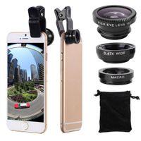 3 in 1 Universal Clip-on Fischauge Weitwinkel Makro Objektiv Kamera Telefon Tablet