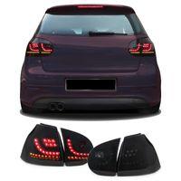 Dynamik LED Lightbar Rückleuchten Schwarz Smoke für VW Golf 5 03-08