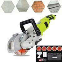 Elektrische Schlitzfräse Mauernutfräse 4000W Schlitzmaschine Nutschneidemaschine Wandjäger Maschine Schlitzfräse Mauerfräse für Ziegel Marmor Beton Cutter