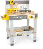 small foot 11806 Werkbank Miniwob aus Holz, mit Werkzeug, umfangreichem Zubehör und Schraub-Set, für Kinder ab 3 Jahren