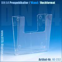 DIN A4 Wand-Prospekthalter / Hochformat