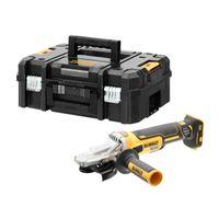 Dewalt Akku-Flachkopf-Winkelschleifer KS 125 mm DCG405FNT-XJ 18 V, Zusatzhandgriff, Aufnahmeflansch, Spannmutter, Schutzhaube für Schleifarbeiten