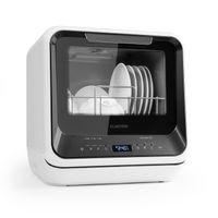 Klarstein Amazonia Mini Spülmaschine Geschirrspüler Geschirrspülmaschine (, Platz für 2 Maßgedecke, 6 Programme, 5 Liter Wasser benötigt, LED-Display, Touch, inkl. Zubehör) schwarz