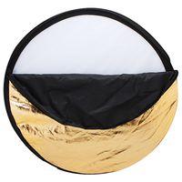 """Andoer 43"""" 110cm Disc 5 in 1 Multi-Portable (Gold, Silber, weiss, schwarz, transluzent) zusammenklappbar Fotografie Studio Photo Light Reflektor"""