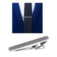 Krokodil Metall Krawattenklammer Herren Krawatte Hochzeit Business Krawattennadel Silber 6x50mm Zugstange / Clip / Verschluss