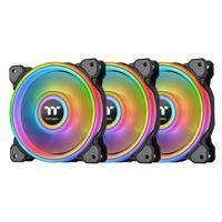 Thermaltake Riing Quad 14 RGB Computergehäuse Ventilator 14 cm Schwarz  THERMALTAKE Produktfarbe: Schwarz, Typ: Ventilator, Kompatible Prozessoren: Nicht unterstützt, Geeignet für: Computergehäuse, Lüfterdurchmesser: 14 cm, Unterstützte Prozessorsteckplätze: Nicht unterstützt