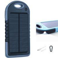 2in1 Solar POWERBANK 5000 mAh inkl. Taschenlampe Ladegerät Akku Akkupack für Smartphones, Tablets und mehr Mini USB