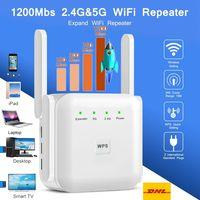 WiFi Repeater Wireless Wifi Extender 1200 Mbit / s WLAN Verstärker mit Blitzschutz Signal Booster 2.4G 5GHz 1200Mbps
