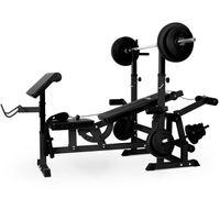 Klarfit Workout Hero 3000 - Kraftstation, Fitnessstation, Trainingsstation, Bankdrücken, Kabelzug, Curl-Pult, Bein-Curler, Butterfly, gepolsterte Rückenlehne + Sitzfläche, schwarz
