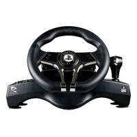 Piranha PS4/PS3 Speed Racing Wheel Rennlenkrad, Farbe:Schwarz