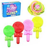 6 PCS Lollipops Slime Kit Obstkuchen Superweiches, nicht klebriges DIY-Spielzeug RRX201127106