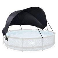 EXIT Pool Sonnensegel ø360cm, Pool canopy, Schwarz, Polyester, Polyurethan, Überirdischer Pool, Rund, 6 Jahr(e)