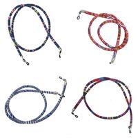 4pcs Ethnische 6mm Rundriemen Halsband Sonnenbrille Brillen Lanyard Holder